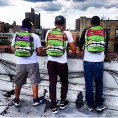 Teenage Mutant Ninja Turtles Backpack by Sprayground - http://thegadgetflow.com/portfolio/teenage-mutant-ninja-turtles-backpack-sprayground/