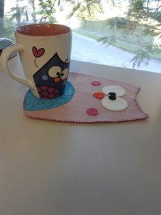 Jogo de café - coruja