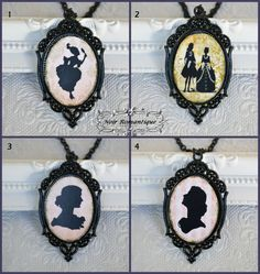 Black ornate victorian gothic cameo by NoirRomantique on Etsy