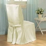 Making Dining Chair Slipcovers; Weekend project; sewn by machine; intermediate skill level