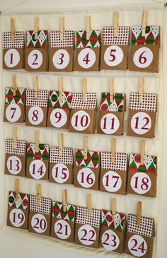 Charming Paper Bag Advent Calendar | AllFreeHolidayCrafts.com