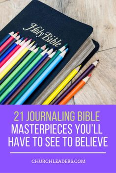 Manyartistshave been turning to a new canvas, their Bibles. With the growing popularity of Journaling Bibles, readers have wider margins for note-taking and journaling. But many artists have seized this opportunity to begin turning the words of Scripture into moving works of art.  #journaling #Bible