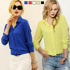 314bf6bb45d9ae Pin 2016 Women Shirt Chiffon shirts Tops Elegant Office Blouse 5 Colors  office lady Wear tops Plus Size XXL to one of your boards if you like it !