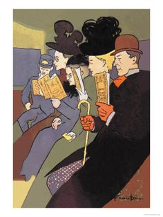 *I love the reflexive nature of Penfield's work for Harper's — the characters are always reading!  Edward Penfield, 1897.