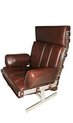 Arne Norell; Steel and Leather Lounge Chair, 1960s.