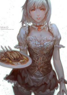 Maid by Cushart.deviantart.com on @deviantART