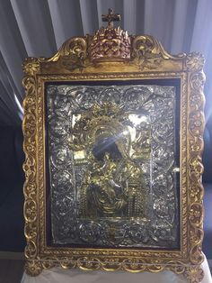 Η Πανάχραντος της Άνδρου. Greek Easter, Byzantine, Holy Spirit, Angels, Faith, God, Frame, Decor, Embroidery