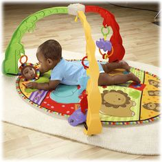 Luv U Zoo  Ages Birth - 12 months   Musical Mirror Activity Gym - Fisher Price Toys