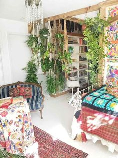 My Tiny Loft – Atlantis Home. Interior of home decor, ideas Boho Home, Hippie Home Decor, Bohemian Decor, Diy Home Decor, Bohemian House, Living Room Small, Tiny Loft, Deco Boheme, Home Decor Inspiration