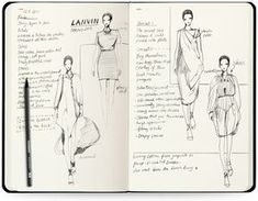 Fashion Illustration Design Details - Tailor-made for fashion designers - Aim for fast sketching and brainstorming - Mini fashion dictionary - 280 barely visible figure templates - Pocket in the back of the sketchbook Specs - Si Fashion Illustration Sketches, Fashion Sketchbook, Fashion Sketches, Dress Sketches, Design Illustrations, Fashion Moda, Fashion Art, Fashion Trends, Fashion Details