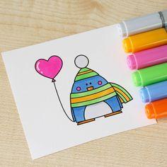 Penguin for #thedailymarker30day #blackberryjellys #digi #digistamp #digitalstamp #stamp #coloringchallenge #coloring #markers #drawing #penguin #copic #cardmaking #scrapbooking #heart #раскрашивание #штампик #пингвин #маркеры #рисунок #скрапбукинг