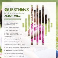 iMOM's TALK Conversation Starters have hundreds of questions you can use to get to know what's going on in the heart and mind of your child.