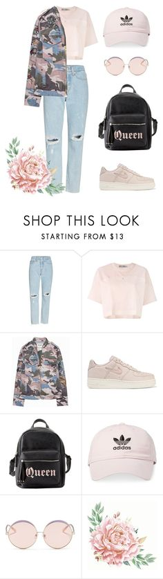 """""""baby pink"""" by niadev ❤ liked on Polyvore featuring Levi's, adidas, Zadig & Voltaire, NIKE, Charlotte Russe and N°21"""