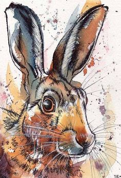 Limited Edition Hare print by Tori Ratcliffe