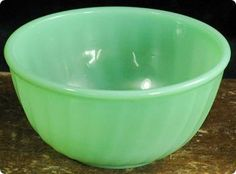 Jadite mixing bowls.  i have a bunch of these!!