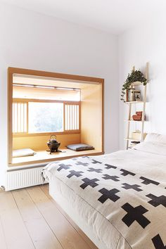 Aqui a ideia é ter um espaço reservado no próprio quarto para você ficar totalmente relaxado.