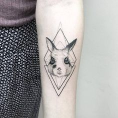 Rabbit with geometric accents by Shpadyreva Julia