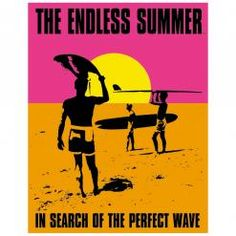 ENDLESS SUMMER - POSTER  Metal Wall Sign by Red Hot Lemon