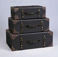 Lot de trois Valise de rangement Déco Homme: Amazon.fr: Cuisine & Maison