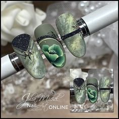Elegant Nail Designs, Flower Nail Designs, Elegant Nails, Nail Art Designs, Uñas One Stroke, One Stroke Nails, Fabulous Nails, Gorgeous Nails, Pink White Nails