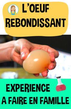 Une amusante expérience scientifique à faire avec vos enfants ! Transformez un œuf 🥚 en un œuf... transparent et rebondissant ! Halloween Science, Baby Play, Science For Kids, Babysitting, Science Experiments, Diy For Kids, Kids Learning, Montessori, Projects To Try