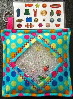 I Spy Bag  Mini with Sewn Word List and by TheCraftingCorner