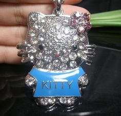 Hello Kitty Fashion Large Crystal Pendant Jewelry Necklace http://www.listia.com/auction/8455258
