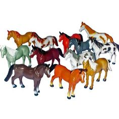 """$9.99 for:  12 ~ Horse Figures ~ 3"""" to 4"""" Plastic ~ New ~ http://www.amazon.com/dp/B004I0PB0W/ref=cm_sw_r_pi_dp_Jhcwrb1X4NV57"""