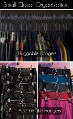 Small closet organization, Add-on skirt-pant hangers by Economy of Style, via Flickr