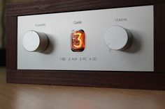 This is a passive Volume control with a 4 channel source selection. The active channel is shown with a Nixietube from 1 to 4.
