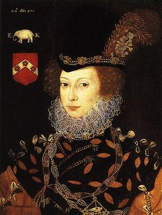 Elizabeth Knollys, granddaughter of Mary Boleyn, great niece of Anne Boleyn