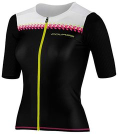Louis Garneau Course M2 Tri Jersey  Womens Black  Pink Glow Small ** Find out more about the great product at the image link.Note:It is affiliate link to Amazon.