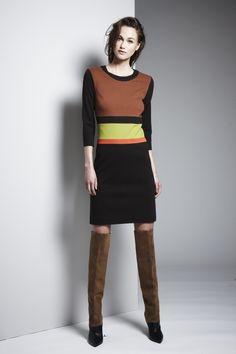Walnut Cinnamon Blaze Inchworm Ponte Banded Dress #WbyWorth #Fall2014