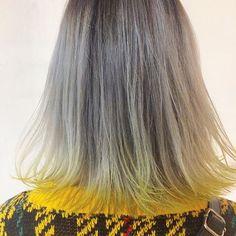 WEBSTA @ akina8922 - .Yellow Girl.ホワイトグラデーションにYellowのpointcolor⭐️⭐️パツッとボブにほんのり入れるのがおすすめ\♡/ #hairstyle#hair#hairarrange#manicpanic#Yellow#shorthair#bobhair#bob#Yellowhair#sunshine#gradationcolor#whiteHair#lemonYellow#ホワイトヘアー#ヘアカラー#グラデーションカラー#ヘアスタイル#ヘアアレンジ#ボブ #ショート#ブリーチ #外ハネボブ #外ハネ#イエローヘアー#イエロー#レモンイエロー#サンシャイン#マニックパニック#マニパニ#ポイントカラー