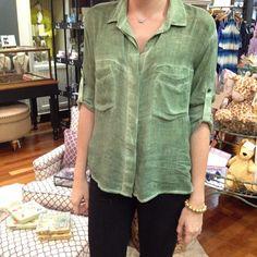 willow green | bella dahl  #belladahl #green #relax #vintage #comfort #washed #shopjuxtapose #shoplocal #boutique #lovefl #Padgram