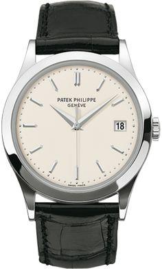 5296G-010 Patek Philippe Calatrava Mens 18K White Gold Watch | WatchesOnNet.com
