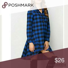 💎Coming Soon!!💎 Blue Plaid Legging Tunic Material: Spandex Style: Asymmetrical, Knee length  Size info:  Small: Bust: 34.65 Length: 38.19 Shoulder length: 23.23 Medium: Bust: 36.22 Length: 38.58 Shoulder Length: 23.62 Tops Tunics