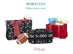 On your way to a tailgate party? Pair our Spirit Collection with your favorite print and get ready to cheer for your team. The Organizing Utility Tote looks great next to a Super Organizing Tote in Big Dot. Complete the look with a Varsity Scarf and Perfect Party Set!