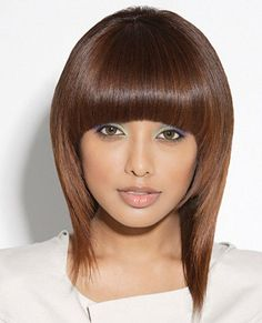 Actually, with so many wonderful haircut concepts on the market, we discover it arduous to choose o Thick Hair Bob Haircut, Fringe Haircut, Fringe Bangs, Short Hair With Bangs, Long Hair Cuts, Thick Bangs, Hair Bangs, Long Bangs, Concave Bob Hairstyles