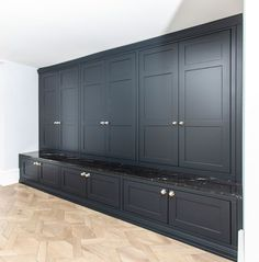 Built in wardrobes. Custom made utility room by Bath Bespoke. Finished in Farrow and Ball Railings. Hallway Cupboards, Built In Cupboards, Mudroom Cabinets, Farrow And Ball Living Room, Farrow And Ball Kitchen, Boot Room Utility, Bedroom Cupboard Designs, Laundry Room Design, Built In Wardrobe