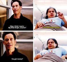 """You get big belly burger money?"" #TheFlash #Season2 #2x11"