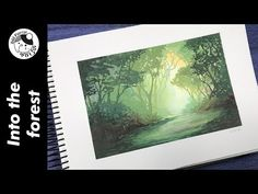 (27) SPEEDPAINT ★ Gouache Clip #14 ☆ Into the forest - YouTube