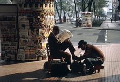 Mexico City Shoe Shine, 1968 Street Photography by Fred Herzog