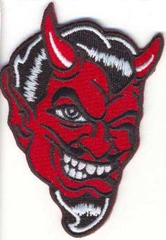 WINKING DEVIL PATCH - psychobilly rockabilly kar kulture tattoo culture coop