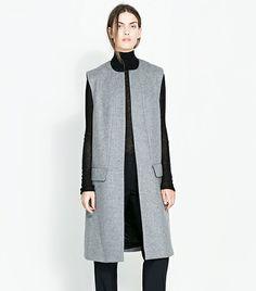 @Who What Wear - Zara Studio Long Vest ($189)
