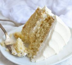 Bake a cake just like Grandma used to with this Vintage Buttermilk Vanilla Cake Recipe From Scratch. A layer cake topped with vanilla buttercream frosting!
