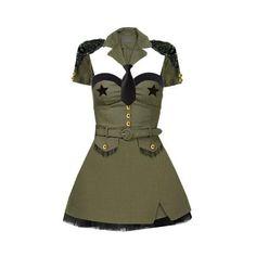 Jersey Madden Original Pinup Army Girl Dance Costume