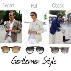 Elegant, Hot, Classic Gentlemen Style featuring Linda Farrow Luxe, Dita Eyewear and Kris Van Assche #sunglasses!
