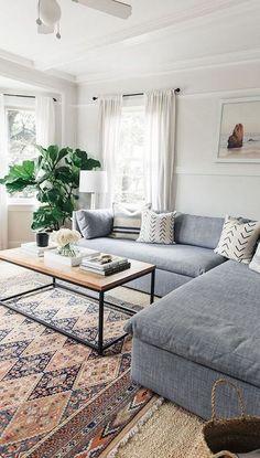 Salle de séjour bleu : 14 décors calme et relaxant pour le salon