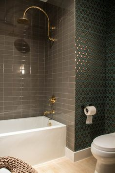 Before & After: From Boring Bathroom to Bold! — Professional Project